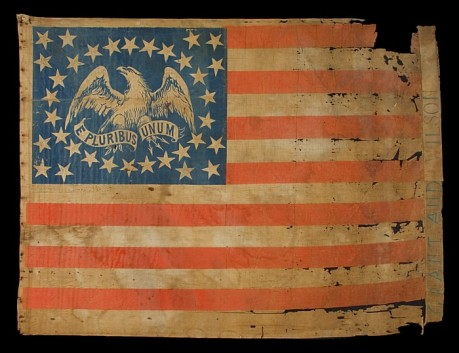 Grant & Wilson campaign flag from the Civil War Era 1861-1863
