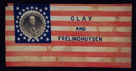 Clay & Frelinchuysen campaign flag (1844)
