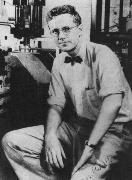 Edward Percell - Winner of the 1952 Nobel Prize in Physics for the discovery of Nuclear Magnetic Resonance; his bowtie is also tied perfectly