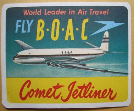 B.O.A.C. Air Lines - You can fly on the Comet Jetliner!