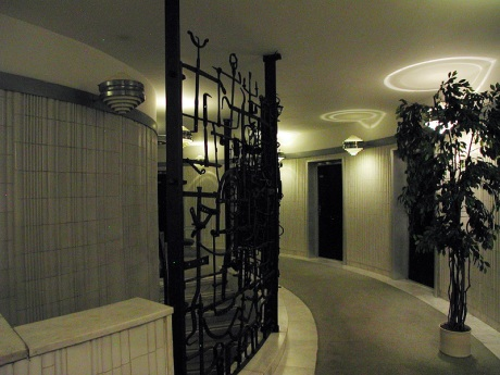 "Another view of the hallway - I love the Louise Nevelson-""esque"" sculptures"