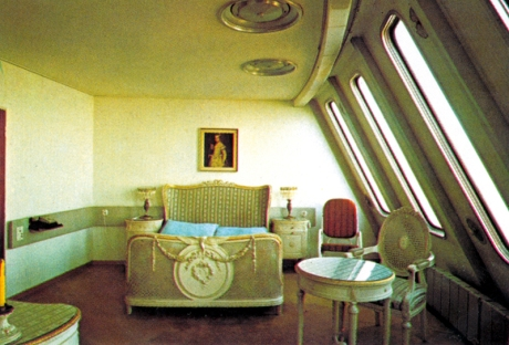 One of the original hotel room interiors