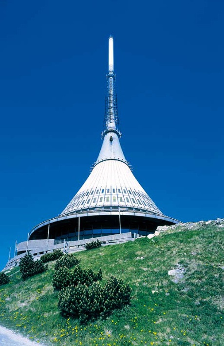 The Jested Teletower's outside view.  I love the hyperboloid shape