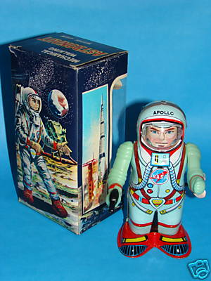 Rolling Astronaut toy; I love the branding with NASA on this guy.