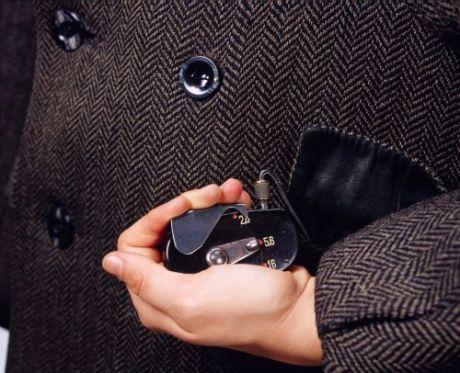 Coat with a hidden camera