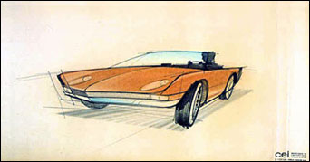 """Preliminary Studies for Studebaker Avanti Automobile."" March 22, 1961. American Treasures of the Library of Congress."
