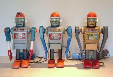 Three versions of Mr. Mercury - Yonegawa early 1960's