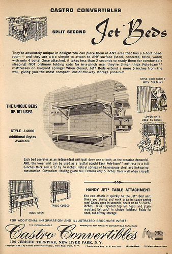An advertisement for shelter beds