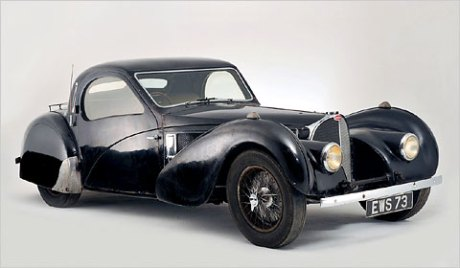 The 1937 Bugatti cleaned and ready for auction