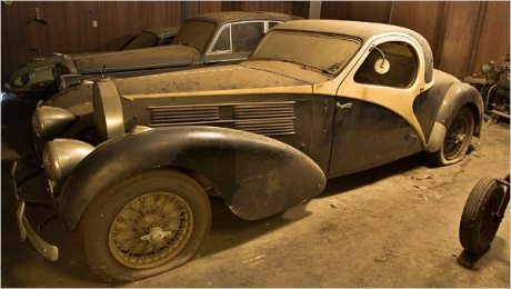 Rare 1938 Bugatti Atlante found in a New York City Garge in May 2007