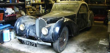 The super rare 1937 Bugatti Atlante found last week in a garage in Britain