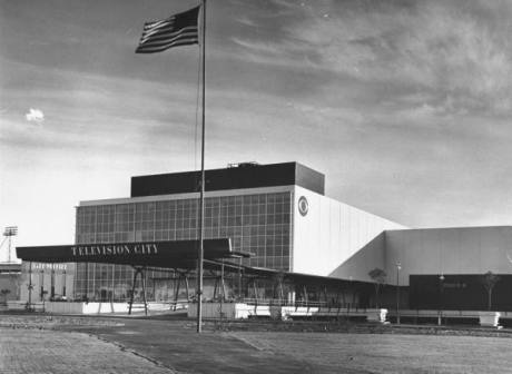 Overall exterior view of new CBS Television City complex, consisting of offices and station studios - 1952