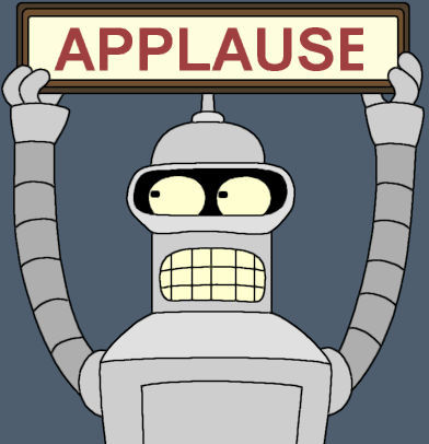 "Bender from television's ""Futurama"""