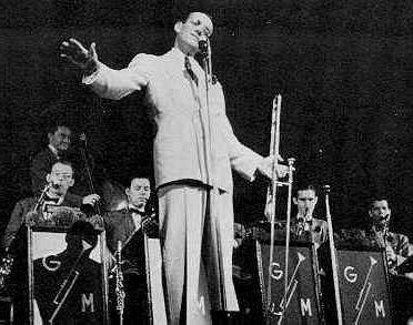 Glenn Miller with his orchestra