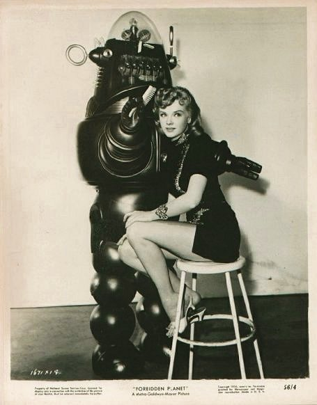Robby The Robot - Here with Anne Francis - Forbidden Planet 1957