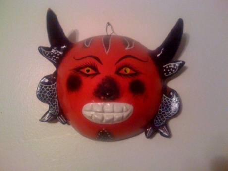 Diablo mask I picked up in Oaxaca in 2007.  He is my favorite!