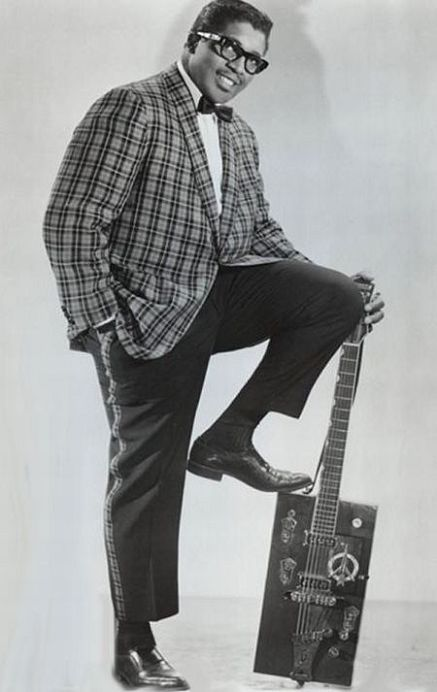 Bo Diddley posing while still young