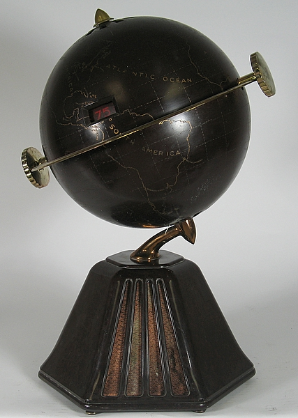 Globe radio designed by Mr. Raymond Loewy