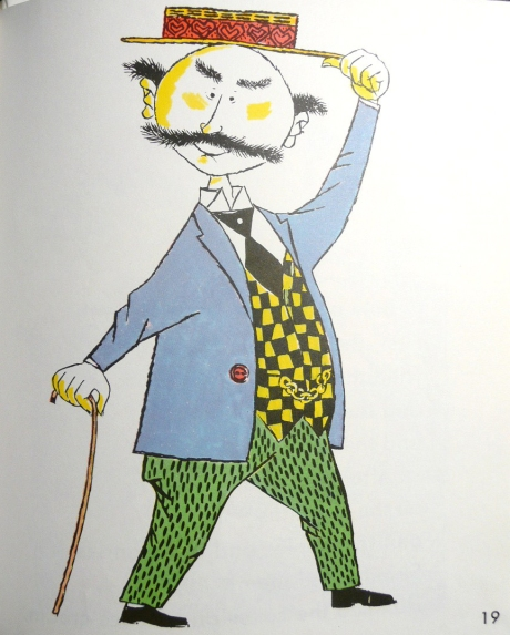 "Illustration from Mr. Lindberg's children's book ""Jimmy Potter Buys a Lollipop"".  Mr. Potter looks extra dapper above in his Rod Keenan boater hat!"