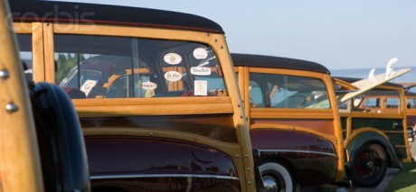 1942 Ford Super DeLuxe wagon and other woodys (Image: Corbis)