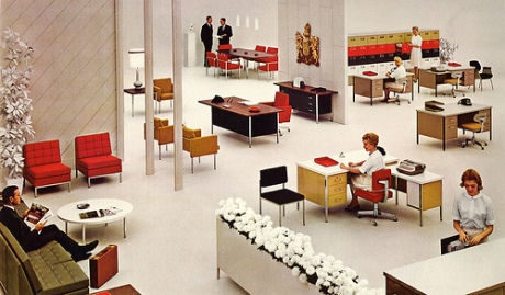 Steelcase Inc. advertisment from a 1963 issue of Forbes Magazine