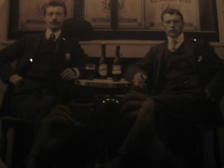 These fine gentlemen are enjoying their beer!