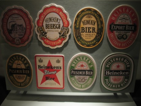 Old Heineken labels