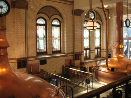 Vats inside the brewery