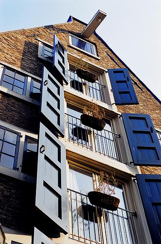 Indigo shutters (flickr)
