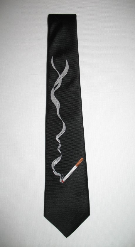 Smoking tie from my Fall 2009 collection.  Made by hand in New York City.