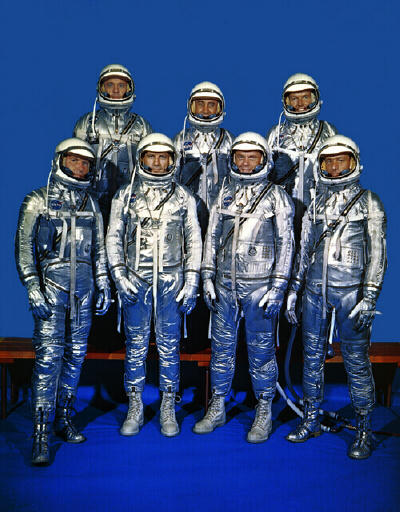 The original Mercury astronauts - John Glenn, Virgil Gus Grissom, Alan Shepard, Scott Carpenter, Walter Schirra, Donald Deke Slayton, Gordon Cooper.