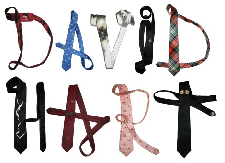 Tie-pography by David Hart using ties from our Fall 2009 collection and Spring 2009