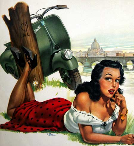 Great Vespa Pin-up girl