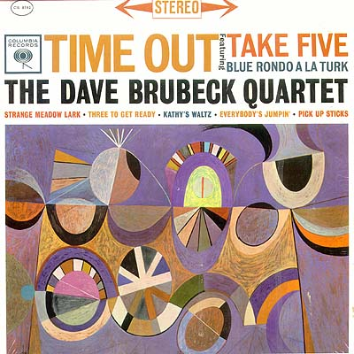 """Time Out"" album cover with artwork by Neil Fujita (1959)"