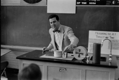 High school science teacher - I love the bowtie!
