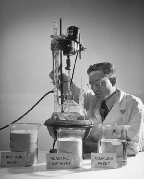 scientist working on reative