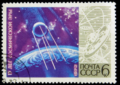 Russian Sputnik Stamp