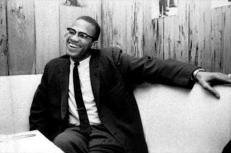 Malcolm X - 1964; great skinny tie and tie clip!