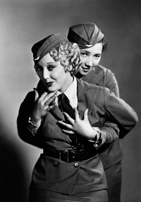 "Her with Patsy Kelly (who was a friend of my Grandfather) ""Air Fright"" - 1933"