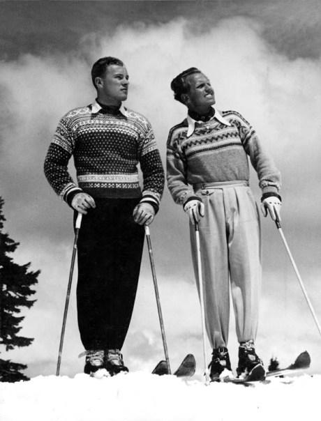 Love the Fair Isle sweaters!