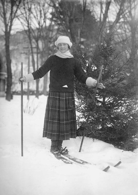 Nothing better than skiing in a tartan skirt