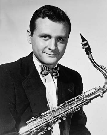 Stan Getz - Looks cool even though his bowtie is a clip on.