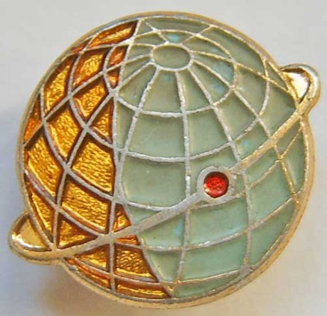 USSR satelite pin