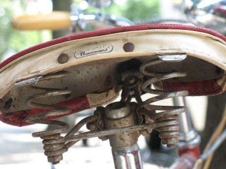 Awesome old Wright's saddle - this company was purchased by Brooks a few years later.