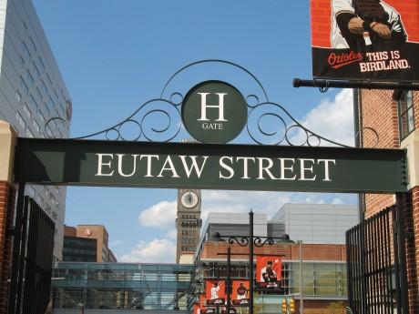 The famous Eutaw Street
