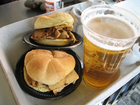 B-B-Q and beer from Boog's