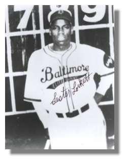 Lester Lockett wearing the original Elite Giants uniform in the 1940's