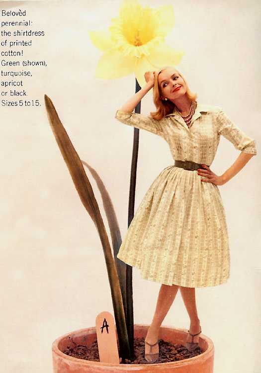 great early 1960�s women�s fashion editorial the