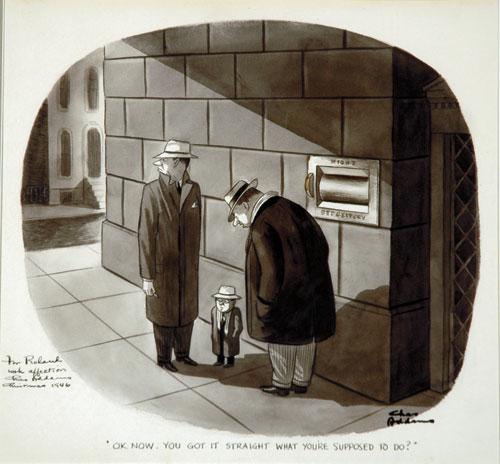 Charles Addams Drawings Addams Sketching on Location