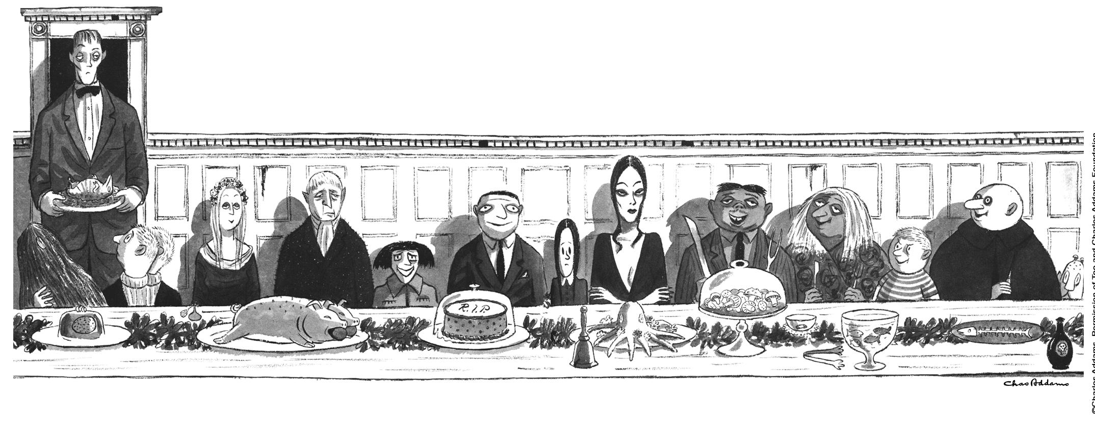 Charles Addams Drawings The Addams Family